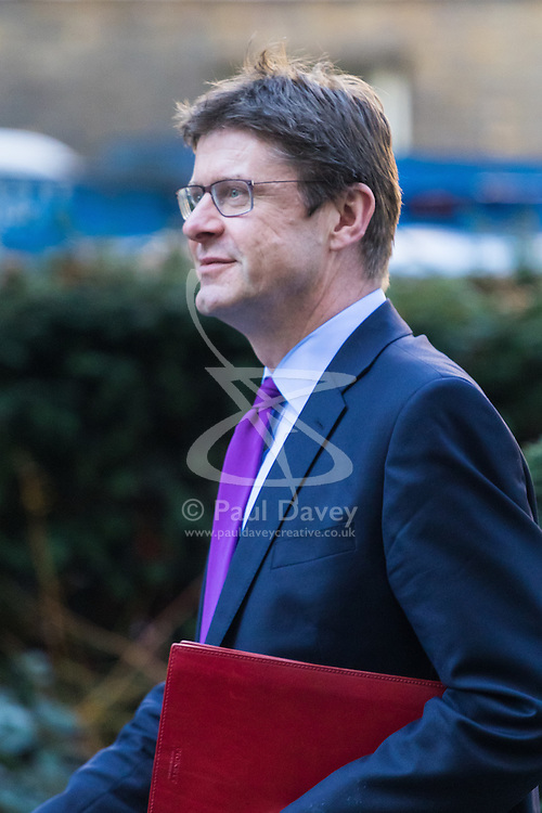 Downing Street, London, February 17th 2017. Business Secretary Greg Clark arrives at 10 Downing Street as PM Theresa May meets French Prime Minister Bernard Cazeneuve.