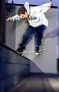 Skater Neil Urwin noseslide, UK 2000's