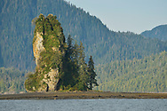 New Eddystone Rock, near Ketchikan and Misty Fjords National Monument, Alaska.