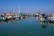 Old Jaffa Port, Tel Aviv-Jaffa, Israel is now used as a fishing harbour and tourist attraction