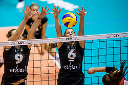 22-08-2017 NED: World Qualifications Belgium - Czech Republic, Rotterdam<br /> Freya Aelbrecht #9 of Belgium, Charlotte Leys #6 of Belgium