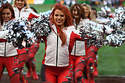 Tampa Bay cheerleaders during the International Series match between Tampa Bay Buccaneers and Carolina Panthers at Tottenham Hotspur Stadium, London, United Kingdom on 13 October 2019.