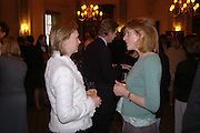 Olivia Williams and Marie-Claire Kerr. Book party to celebrate the publication of ' How the King of Scots Won the Throne of England in 1603 by Leanda de Lisle. St. Wilfred's Hall. Brompton Oratory. London. 9 May 2005. ONE TIME USE ONLY - DO NOT ARCHIVE  © Copyright Photograph by Dafydd Jones 66 Stockwell Park Rd. London SW9 0DA Tel 020 7733 0108 www.dafjones.com