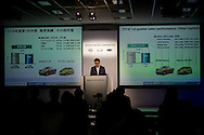 Japan's auto giant Nissan Corporate Vice president Joji Tagawa announces the company's first quarter financial results at the company's headquarters in Yokohama on July 27, 2016.26/07/2016-Yokohama, JAPAN