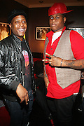 l to r: Talib Kweli and Josh X at Rock The Bells Presents Reflection Eternal held at  BB KIngs on August 28, 2009 in New York City