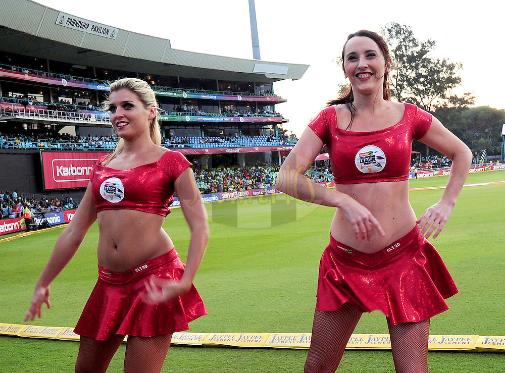Dancers during match 18 of the Karbonn Smart CLT20 South Africa between The Sydney Sixers and The Mumbai Indians held at Kingsmead Park in Durban, South Africa on the 22nd October 2012..Photo by Gerhard Duraan/SPORTZPICS/CLT20
