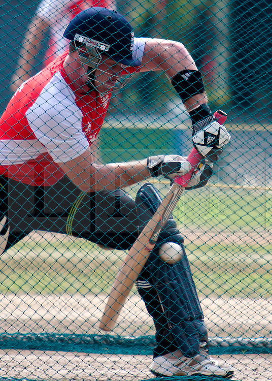 ©London News Pictures. 25/03/2011.Ian Bell batting in the nets  ahead of  ICC cricket World cup in Sri Lanka. Photo credit should read Asanka Brendon Ratnayake/London News Pictures