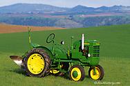 1946 John Deere LA Tractor restored by Bob Callison in Kendrick Idaho