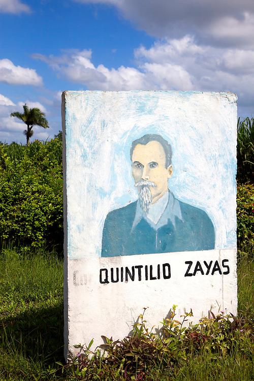 Sign near Cueto, Holguin, Cuba.