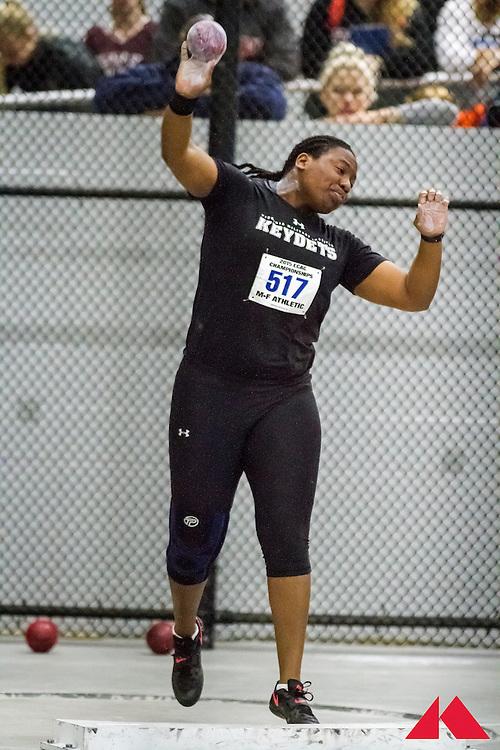 ECAC Indoor Champs, womens shot put, Virginia Military Institute