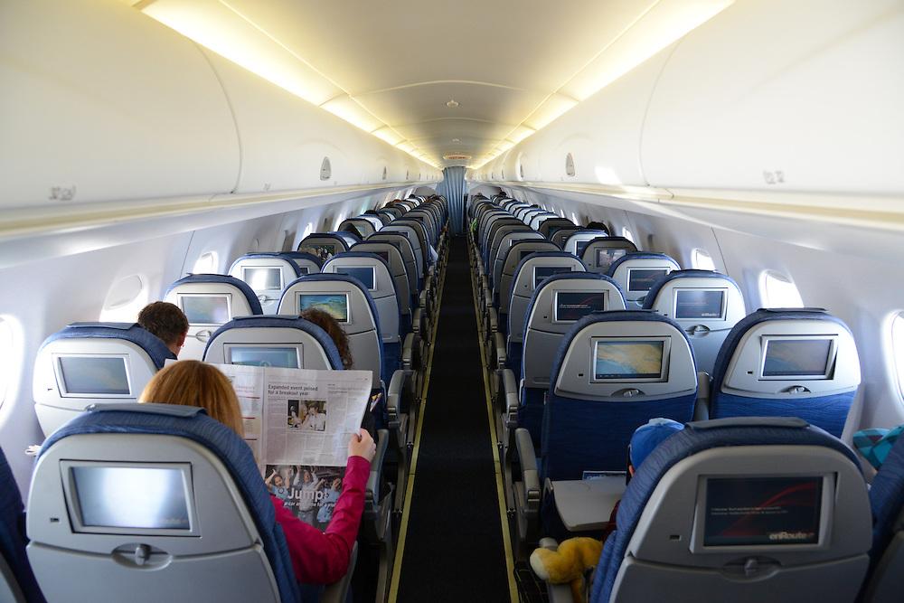 Air Canada Embraer 190 cabin