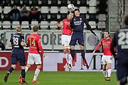 (L-R) Mats Seuntjens of AZ Alkmaar, Tom Boere of FC Twente