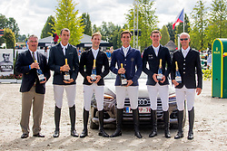 Wathelet Gregory, Guery Jerome, Verlooy Jos, Devos Pieter, Philippaerts Olivier, Weinberg Peter, <br /> Brussels Stephex Masters<br /> © Hippo Foto - Sharon Vandeput<br /> 1/09/19