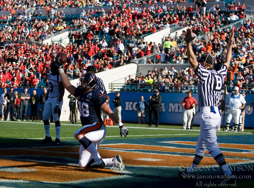 The Virginia Cavaliers faced the Texas Tech Red Raiders in the 2008 Konica Menolta Gator Bowl held at the Jacksonville Municipal Stadium in Jacksonville, FL on January 1, 2008.