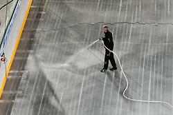 Worker preparing Ice in Arena Stozice for World Championship Div. I on April 10, 2012 at SRC Stozice, Ljubljana, Slovenia. (Photo By Matic Klansek Velej / Sportida.com)