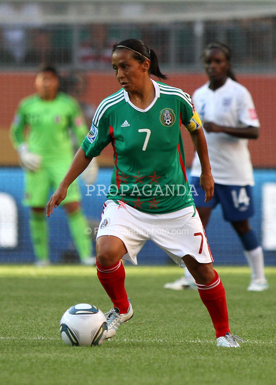 27.06.2011, Arena im Allerpark Wolfsburg , Wolfsburg ,  GER, FIFA Women Worldcup 2011, Gruppe B ,   Mexico (MEX) vs. England (ENG). im Bild Juana Lopez  (MEX)  during the FIFA Women Worldcup 2011, Pool B, Mexico vs England on 2011/06/26, Arena im Allerpark , Wolfsburg, Germany.  .EXPA Pictures © 2011, PhotoCredit: EXPA/ nph/  Hessland       ****** out of GER / SWE / CRO  / BEL ******