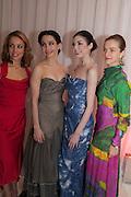 Fernanda Oliveira, Tamara Rojo, Bridgett Zehr; Elena Glurdjidze, English National Ballet's celebrates their Christmas season at the London Coliseum,  St Martins Lane hotel. London. 13 December 2012.