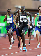 Timothy Cheruiyot (KEN) wins the 1,500m in 3:29.97 during the Herculis Monaco in an IAAF Diamond League meet at Stade Louis II stadium in Fontvieille, Monaco on Friday, July 12, 2019. (Jiro Mochizukii/Image of Sport)