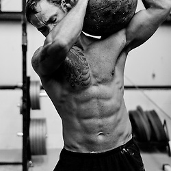 Andrew Balha looking ripped with the Atlas Stone, Crossfit image, picture, photo, photography of health, elite, exercise, training, workouts, WODs, taken at Progressive Fitness CrossFit,Colorado Springs, Colorado, USA