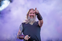 2019-06-06 | Norje, Sweden: Johan Hegg performing at Sweden Rock Festival ( Photo by: Roger Linde | Swe Press Photo )<br /> <br /> Keywords: Sweden Rock Festival, Norje, Festival, Music, SRF, Amon Amarth