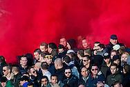 ROTTERDAM, Feyenoord - PSV, voetbal, Eredivisie seizoen 2015-2016, 17-1-2016, Stadion De Kuip, sfeer, rook, vuurwerk.
