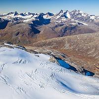 Stølnosbreen and Hurrungane.