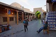 Uzbekistan, Bukhara. The Bazaar.