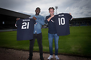 New Dundee FC signings Roarie Deacon and Scott Allan pictured at Dens Park, Dundee, Photo: David Young<br /> <br />  - &copy; David Young - www.davidyoungphoto.co.uk - email: davidyoungphoto@gmail.com