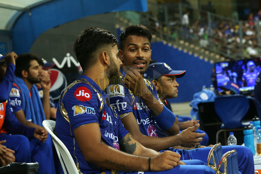 Mumbai Indians players during match 51 of the Vivo 2017 Indian Premier League between the Mumbai Indians and the Kings XI Punjab held at the Wankhede Stadium in Mumbai, India on the 11th May 2017<br /> <br /> Photo by Sandeep Shetty - Sportzpics - IPL