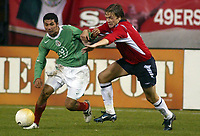SAN FRANCISCO, CAL   25-01-2006<br /> <br /> <br /> <br /> Jose Olvera (#19 Mexico), Borgersen Bard (#3 Norway)  during friendly match between Mexico and Norway at Monster Park stadium in San Francisco, California, on January, 25, 2006<br /> <br /> <br /> <br /> <br /> <br /> <br /> <br /> FOTO ©ALEJANDRO MELENDEZ  Clasos/Graffiti