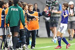 13.07.2011, Commerzbank Arena, Frankfurt, GER, FIFA Women Worldcup 2011, Halbfinale,  Japan (JPN) vs. Schweden (SWE), im Bild.Torjubel / Jubel  Nahomi Kawasumi (Japan) (R) mit den Ersatzuspielern.. // during the FIFA Women´s Worldcup 2011, Semifinal, Japan vs Sweden on 2011/07/13, Commerzbank Arena, Frankfurt, Germany.   EXPA Pictures © 2011, PhotoCredit: EXPA/ nph/  Mueller       ****** out of GER / CRO  / BEL ******