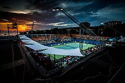 Stadium during Final Singles match between Constant Lestienne (FRA) and Andrea Arnaboldi (ITA) at Day 9 of ATP Challenger Zavarovalnica Sava Slovenia Open 2018, on August 11, 2018 in Sports centre, Portoroz/Portorose, Slovenia. Photo by Vid Ponikvar / Sportida