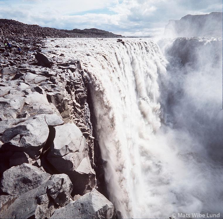 Dettifoss, Jökulsá á Fjöllum,  Jökulsárgljufur, Norðurþing áður Öxarfjarðarhreppur /.Dettifoss waterfall in river Jokulsa a Fjollum Nordurthing former Oxarfjardarhreppur.