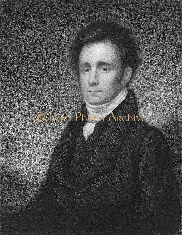 Robert Jameson (1774-1854) Scottish mineralogist. [1833]. Jameson was Regis professor of natural history at Edinburgh 1804-1854.  With David Brewster he  founded 'Edinburgh Philosophical Journal'. From 'National Portrait Gallery' by Joseph Jordan. (London, 1833). Engraving.