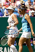 Simona Halep, Raluca Olaru (ROU) Vs Kirsten Flipkens (BEL), Bethanie Mattek Sands (USA) Action at the Nature Valley International 2019 at Devonshire Park, Eastbourne, United Kingdom on 28th June 2019. Picture by Jonathan Dunville