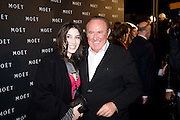 Andrew Neil; Victoria Clook, A Tribute to Cinema party given by Moet and Chandon.Big Sky Studios, Brewery Rd. London.  24 March 2009 *** Local Caption *** -DO NOT ARCHIVE-© Copyright Photograph by Dafydd Jones. 248 Clapham Rd. London SW9 0PZ. Tel 0207 820 0771. www.dafjones.com.<br />