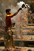 The Ganga Arti is held every evening at 7pm at Dashashwamedh Ghat (the Main Ghat) in Varanasi, Uttar Pradesh, India.