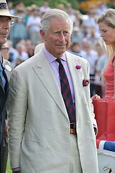 HRH THE PRINCE OF WALES at the Audi International Polo at Guards Polo Club, Windsor Great Park, Egham, Surrey on 26th July 2014.
