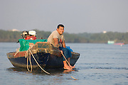 Fisherman taking it easy on his boat. Samuthprakarn...Samuthprakarn also known as Pak Nam, is located 29 kilometers south of Bangkok on the east bank of Chao Phraya River near its estuary into the Gulf of Thailand.