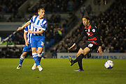 Brighton midfielder Steve Sidwell (36) during the Sky Bet Championship match between Brighton and Hove Albion and Queens Park Rangers at the American Express Community Stadium, Brighton and Hove, England on 19 April 2016. Photo by Phil Duncan.