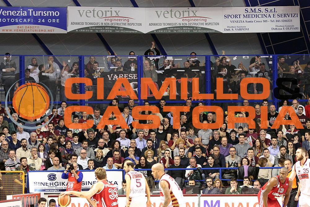 DESCRIZIONE : Venezia Lega A 2013-14 Umana Reyer Venezia Cimberio Varese<br /> GIOCATORE : tifosi cimberio varese<br /> CATEGORIA :  tifosi<br /> SQUADRA : Umana Reyer Venezia Cimberio Varese<br /> EVENTO : Campionato Lega A 2013-2014<br /> GARA : Umana Reyer Venezia Cimberio Varese<br /> DATA : 02/02/2014<br /> SPORT : Pallacanestro<br /> AUTORE : Agenzia Ciamillo-Castoria/G.Contessa<br /> Galleria : Lega Basket A 2013-2014<br /> Fotonotizia :  Venezia Lega A 2012-13 Umana Reyer Venezia Cimberio Varese<br /> Predefinita :