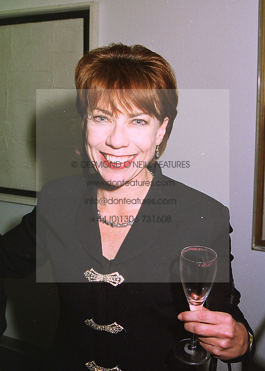 Writer KATHY LETTE wife of Geoffrey Robertson QC. at a reception in London on 12th March 1998.MGA 70