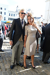 NATALIE PINKHAM and OWAIN WALBYOFF at the wedding of Lady Natasha Rufus Isaacs to Rupert Finch held at St.John The Baptist Church, Cirencester, Gloucestershire, UK on 8th June 2013.