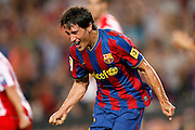 FC Barcelona's Bojan Krkic celebrates goal during  La Liga match.August 31 2009.