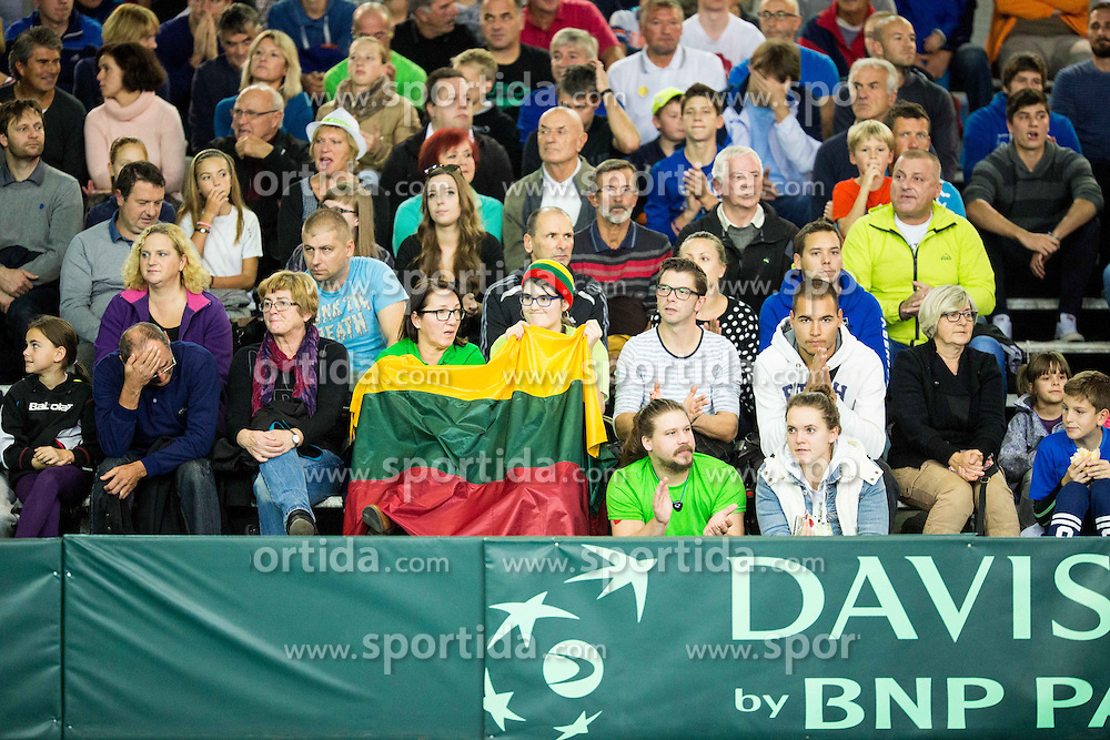 Spectators during Davis Cup Slovenia vs Lithuania competition, on October 30, 2015 in Kranj, Slovenia. Photo by Vid Ponikvar / Sportida