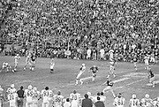 COLLEGE FOOTBALL:  Stanford's John Winesberry #26 catches a pass  during the 1972 Rose Bowl against Michigan played on January 1, 1972 at the Rose Bowl in Pasadena, California. Stanford won by a score of 13-12.  Other players visible include Stanford's Dennis Sheehan #58, Younger Klippert #63, Bill Scott #84 and Miles Moore #45.  BW R 0148-20