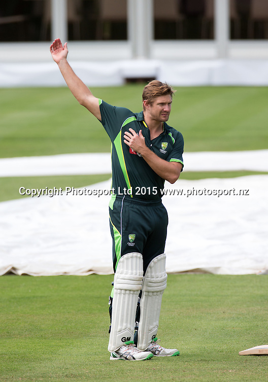 Shane Watson during net practice on the eve of the 2nd Investec Test Match between England and Australia at Lord's Cricket Ground, London. Photo: Graham Morris (Tel: +44(0)20 8969 4192 Email: sales@cricketpix.com) 14/07/15
