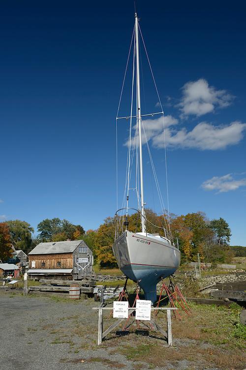 Shipyard,Essex, Massachusetts, New England, East Coast, USA,