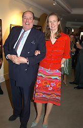 The HON.NICHOLAS SOAMES and his wife SERENA at auctioneers Sotheby's Summer party held at their showrooms in 34-35 New Bond Street, London W1 on 6th June 2005.<br />