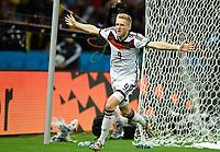 Fotball<br /> Tyskland v Algerie<br /> 30.06.2014<br /> VM 2014<br /> Foto: Witters/Digitalsport<br /> NORWAY ONLY<br /> <br /> 1:0 Jubel Andre Schuerrle (Deutschland)<br /> Fussball, FIFA WM 2014 in Brasilien, Achtelfinale, Deutschland - Algerien